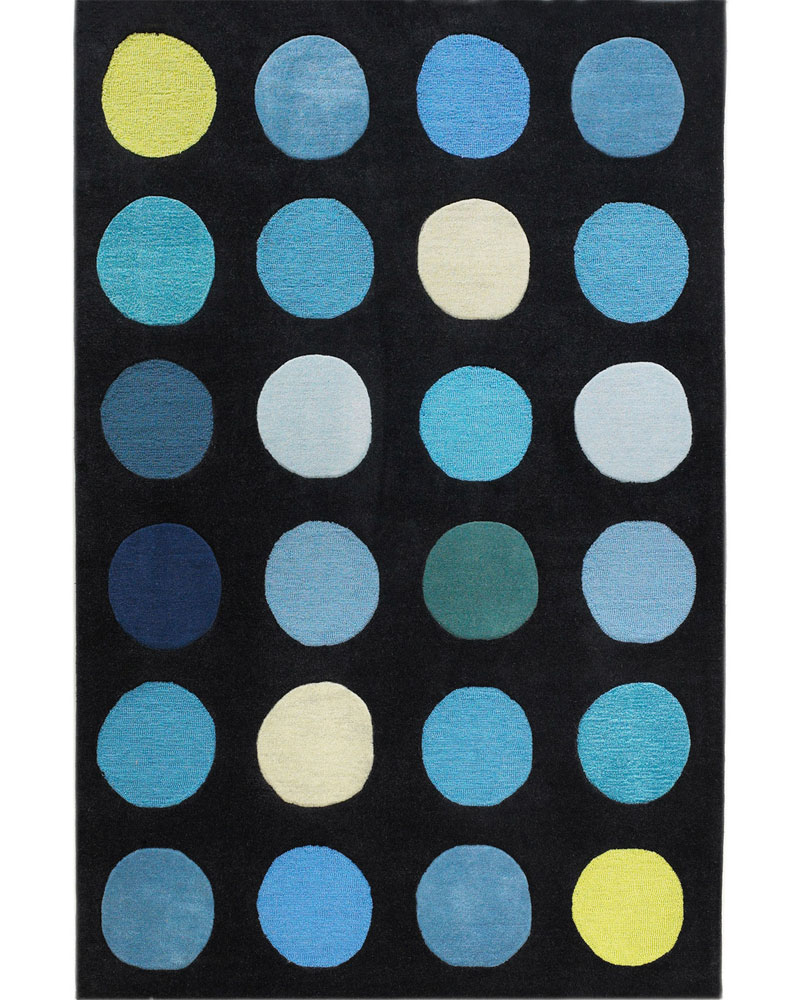 polka dot area rug in patterned rugs